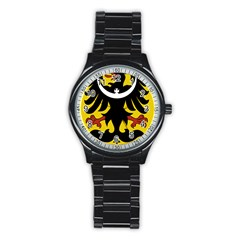 Silesia Coat Of Arms  Stainless Steel Round Watch by abbeyz71