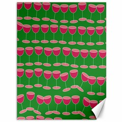 Wine Red Champagne Glass Red Wine Canvas 36  X 48   by Nexatart