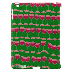 Wine Red Champagne Glass Red Wine Apple Ipad 3/4 Hardshell Case (compatible With Smart Cover)