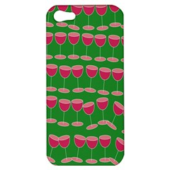 Wine Red Champagne Glass Red Wine Apple Iphone 5 Hardshell Case by Nexatart