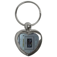 Vintage Tape Recorder Key Chains (heart)  by Nexatart