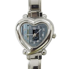 Vintage Tape Recorder Heart Italian Charm Watch