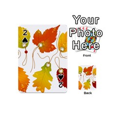 Vector Beautiful Maple Leaf Playing Cards 54 (mini)  by Nexatart