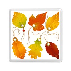Vector Beautiful Maple Leaf Memory Card Reader (square)  by Nexatart