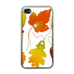 Vector Beautiful Maple Leaf Apple Iphone 4 Case (clear) by Nexatart