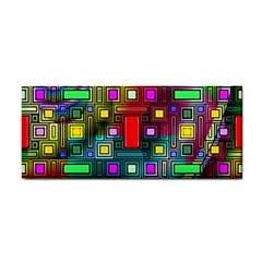 Art Rectangles Abstract Modern Art Cosmetic Storage Cases by Nexatart