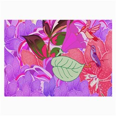 Abstract Flowers Digital Art Large Glasses Cloth