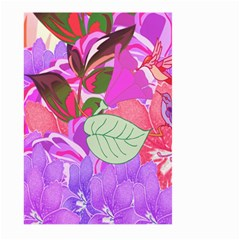 Abstract Flowers Digital Art Large Garden Flag (two Sides)