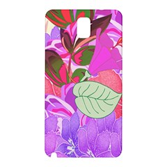 Abstract Flowers Digital Art Samsung Galaxy Note 3 N9005 Hardshell Back Case by Nexatart