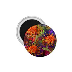 Abstract Flowers Floral Decorative 1 75  Magnets by Nexatart