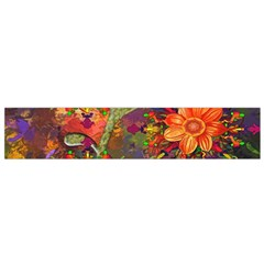 Abstract Flowers Floral Decorative Flano Scarf (small) by Nexatart