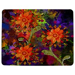 Abstract Flowers Floral Decorative Jigsaw Puzzle Photo Stand (rectangular) by Nexatart