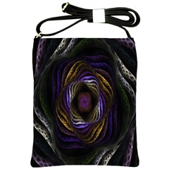 Abstract Fractal Art Shoulder Sling Bags by Nexatart