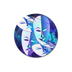Abstract Mask Artwork Digital Art Magnet 3  (round) by Nexatart