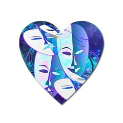 Abstract Mask Artwork Digital Art Heart Magnet by Nexatart