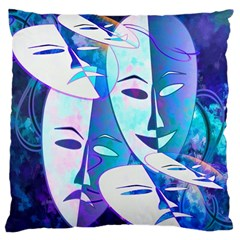 Abstract Mask Artwork Digital Art Large Cushion Case (one Side)