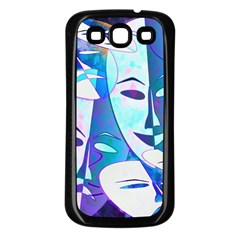 Abstract Mask Artwork Digital Art Samsung Galaxy S3 Back Case (black) by Nexatart