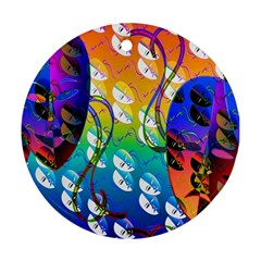Abstract Mask Artwork Digital Art Ornament (round)