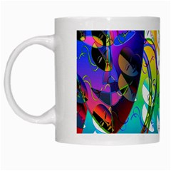Abstract Mask Artwork Digital Art White Mugs by Nexatart
