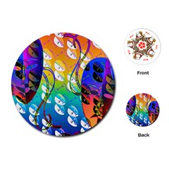 Abstract Mask Artwork Digital Art Playing Cards (round)