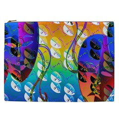 Abstract Mask Artwork Digital Art Cosmetic Bag (xxl)