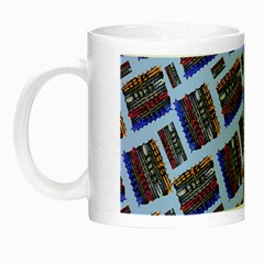 Abstract Pattern Seamless Artwork Night Luminous Mugs by Nexatart