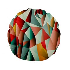 Abstracts Colour Standard 15  Premium Flano Round Cushions by Nexatart