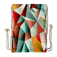 Abstracts Colour Drawstring Bag (large) by Nexatart