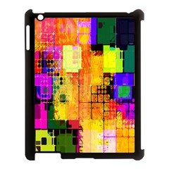 Abstract Squares Background Pattern Apple Ipad 3/4 Case (black)