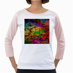 Abstract Squares Triangle Polygon Girly Raglans