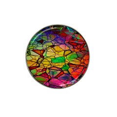 Abstract Squares Triangle Polygon Hat Clip Ball Marker (4 Pack) by Nexatart