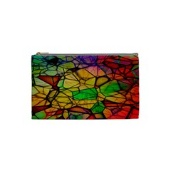 Abstract Squares Triangle Polygon Cosmetic Bag (small)  by Nexatart