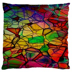 Abstract Squares Triangle Polygon Large Cushion Case (two Sides) by Nexatart