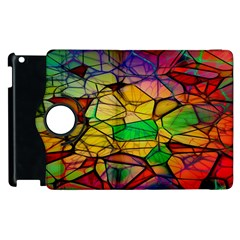 Abstract Squares Triangle Polygon Apple Ipad 3/4 Flip 360 Case by Nexatart