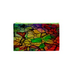 Abstract Squares Triangle Polygon Cosmetic Bag (xs)