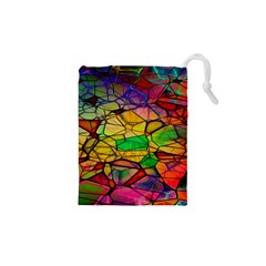 Abstract Squares Triangle Polygon Drawstring Pouches (xs)