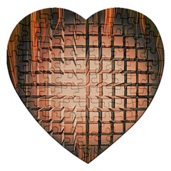 Abstract Texture Background Pattern Jigsaw Puzzle (heart) by Nexatart