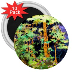 Abstract Trees Flowers Landscape 3  Magnets (10 Pack)  by Nexatart