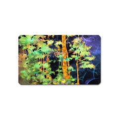 Abstract Trees Flowers Landscape Magnet (name Card) by Nexatart