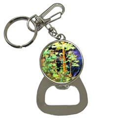 Abstract Trees Flowers Landscape Button Necklaces