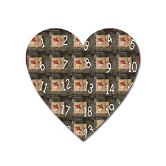 Advent Calendar Door Advent Pay Heart Magnet by Nexatart