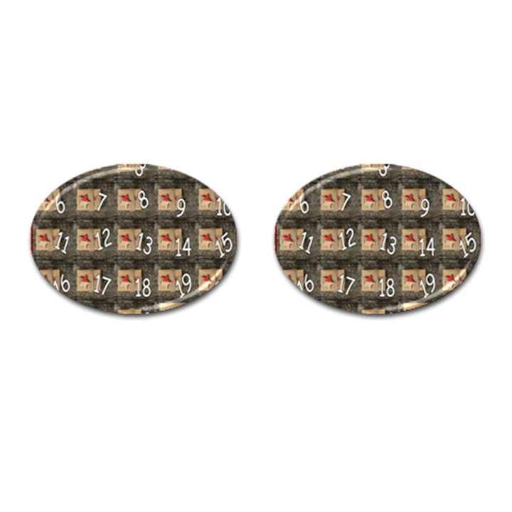 Advent Calendar Door Advent Pay Cufflinks (Oval)