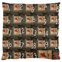 Advent Calendar Door Advent Pay Large Cushion Case (two Sides) by Nexatart