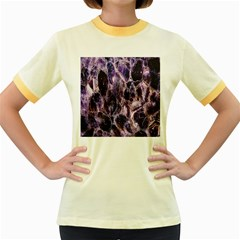 Agate Naturalpurple Stone Women s Fitted Ringer T Shirts