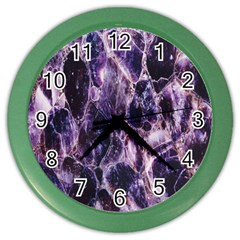 Agate Naturalpurple Stone Color Wall Clocks by Alisyart