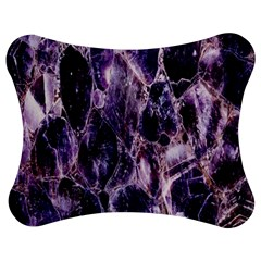 Agate Naturalpurple Stone Jigsaw Puzzle Photo Stand (bow)