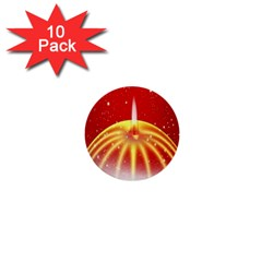 Advent Candle Star Christmas 1  Mini Buttons (10 Pack)