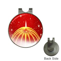 Advent Candle Star Christmas Hat Clips With Golf Markers by Nexatart