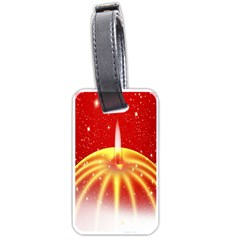 Advent Candle Star Christmas Luggage Tags (one Side)  by Nexatart