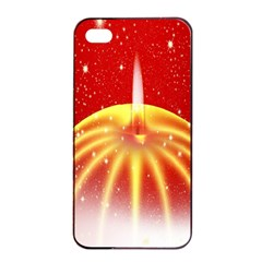 Advent Candle Star Christmas Apple Iphone 4/4s Seamless Case (black) by Nexatart